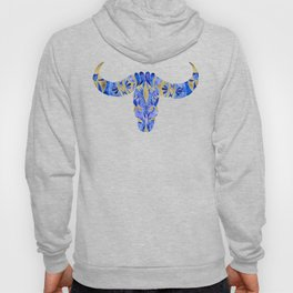 Water Buffalo Skull – Navy & Gold Hoody