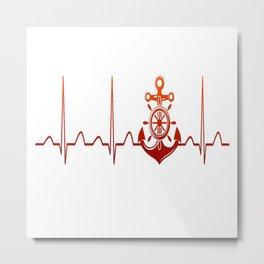 Sailor Heartbeat Metal Print