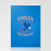ravenclaw Stationery Cards featuring Eagles Ravenclaw by Fresco Umbiatore