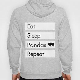 Eat Sleep Pandas Repeat - Panda Design Hoody