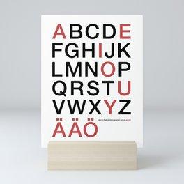 Helvetica Poster Mini Art Print