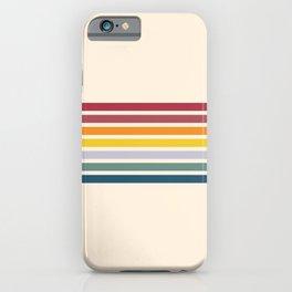Enera - Classic 70s Vintage Style Retro Stripes iPhone Case