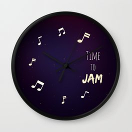 Time to Jam Wall Clock