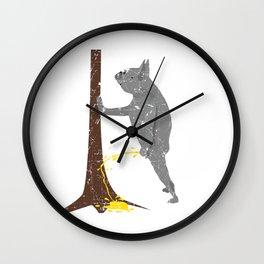 funny pissing peeing Dog Dogs Labrador Bulldog Wall Clock