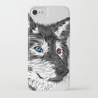 gray iPhone & iPod Cases featuring Gray wolf by Roland Banrevi
