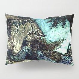 """""""How Now Spirit?"""" Fairy Art by Arthur Rackham Pillow Sham"""