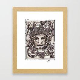 Mayan Mask Framed Art Print