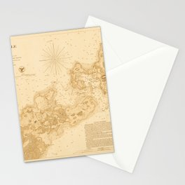Map of Woods Hole 1857 Stationery Cards