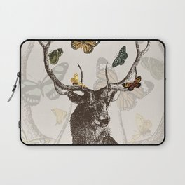 The Stag and Butterflies Laptop Sleeve