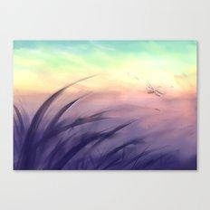 Goodmorning dragonfly Canvas Print