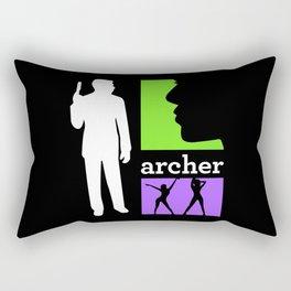 Archer In Action Rectangular Pillow