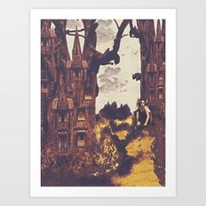 Dollhouse Forest Fantasy Art Print
