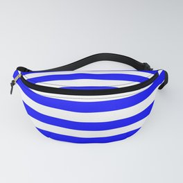 Stripes (Classic Blue & White Pattern) Fanny Pack