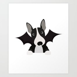 English Bull Terrier Halloween Costume Trick or Treat Art Print