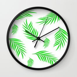 NEON PALM LEAVES Wall Clock
