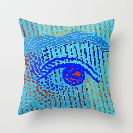 Queen Elizabeths Eyes Throw Pillow