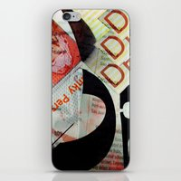 newspaper iPhone & iPod Skins featuring Abstract Newspaper by bmp528