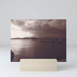 Downtown Vancouver cityscape and skyline Mini Art Print