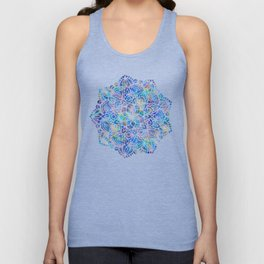 Mandala Little Mermaid Ocean Blue Unisex Tank Top