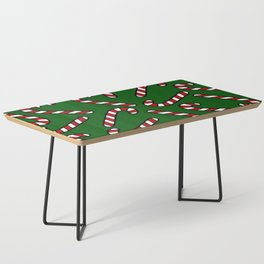 Candy Cane Pattern Dark Green Coffee Table