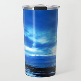 Arm from Above Plays with the Sunset Travel Mug