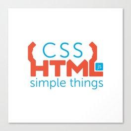 HTML/CSS/JS Canvas Print
