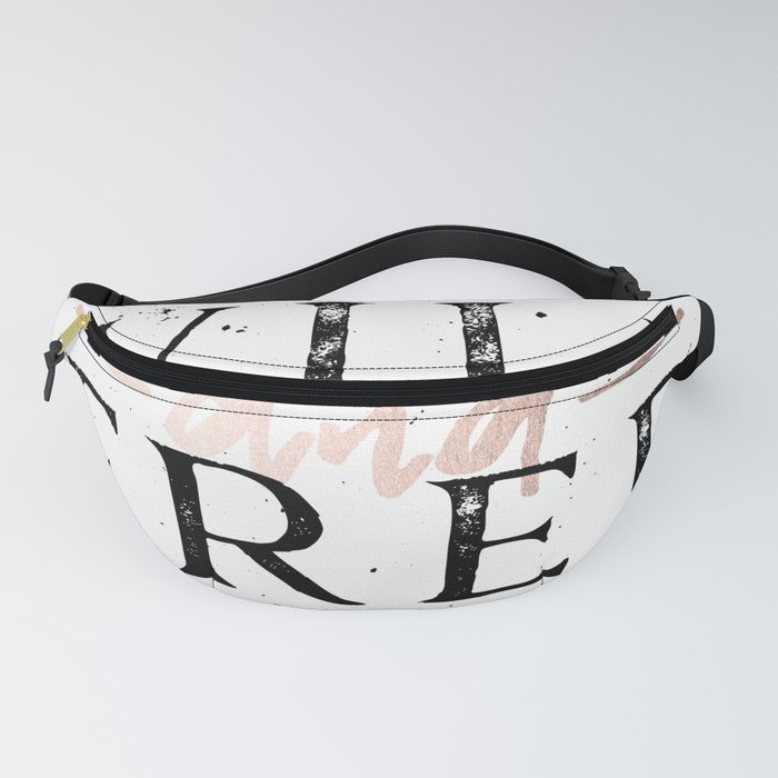 Wild and Free Rose Gold on White Fanny Pack