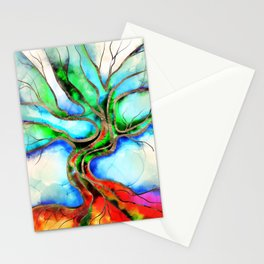 Tree of life - watercolor, ink and gold Stationery Cards