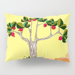 A Pomegranate Tree in Israel in the Day Pillow Sham
