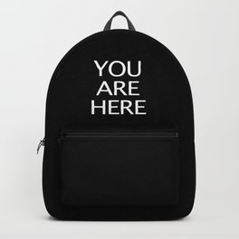 Text You Are Here Backpack