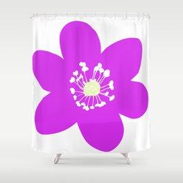 Flower Anemone Hepatica Red Shower Curtain