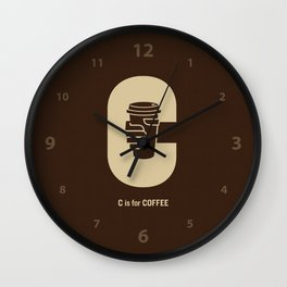 C is for Coffee Wall Clock