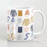 knitting Mugs featuring Knitting by Holly Dunn Design