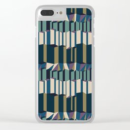 Straight Geometry City 2 Clear iPhone Case
