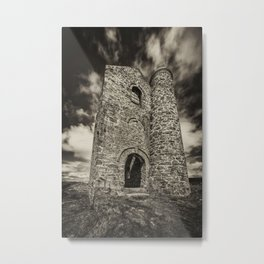 Cripplesease Engine House in Mono Metal Print