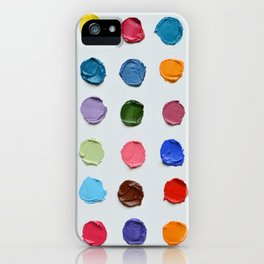 Rainbow Polka Daubs iPhone Case