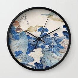 Mount fuji japon from Utagawa Kuniyoshi Wall Clock