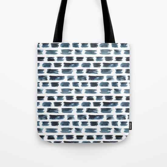 Indigo brushstrokes Tote Bag