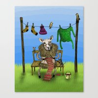 sheep Canvas Prints featuring Sheep by Anna Shell