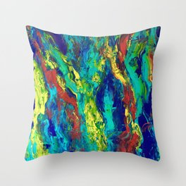 Abstract Color Slide Throw Pillow