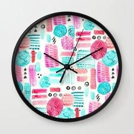 Dots, Circles and Dashes Wall Clock