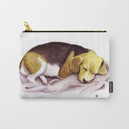 Beagle Watercolor Painting Carry-All Pouch