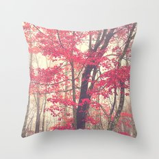 Autumn Red Throw Pillow