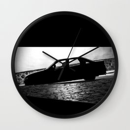 Car at night Wall Clock