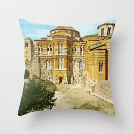 Hosios Loukas monastery Distomo Greece Throw Pillow