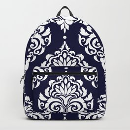 Blue Damask Backpack