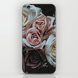 Roses on Black iPhone Skin