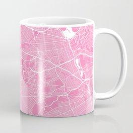 New York map pink Coffee Mug