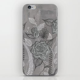 Rose Garden Black iPhone Skin