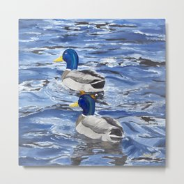 Ducks at Alto Lake Metal Print